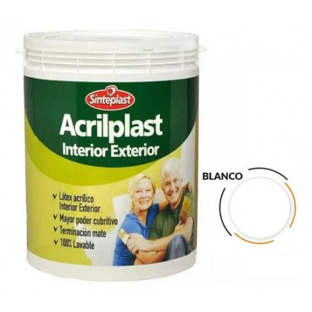 Pintura Látex Acrilplast Interior/exterior 20 Lt Blanco