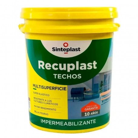 Recuplast Techos 20 Litros Impermeabilizante