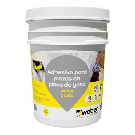Pasta Pegamento Cerámica Sobre Placa De Yeso 7kg Weber