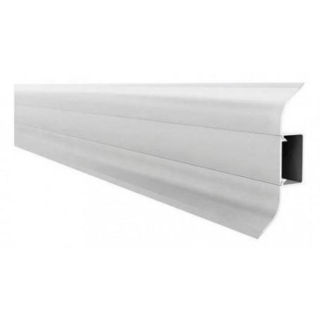 Zócalo Blanco De Pvc De 70mm X 2.4mts Largo