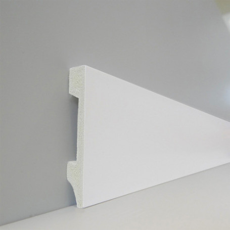 Zócalo Top Line 75 (blanco Polar) - 1,4cm X 7,5cm X 240cm
