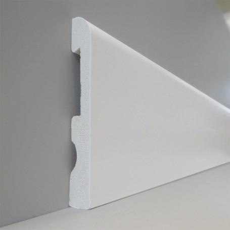 Zócalo Top Round 100 (blanco Polar) - 1,5cm X 10cm X 240cm
